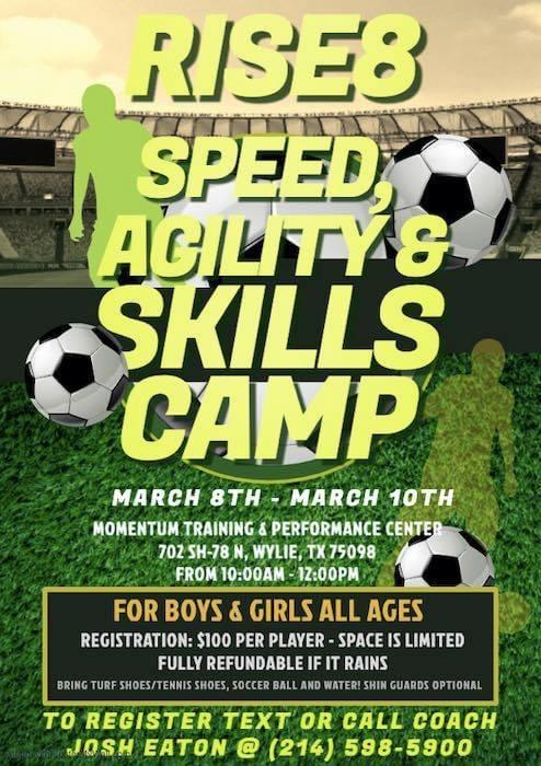 Speed, Agility and Skills Camp 3/8-3/10 8a68e510