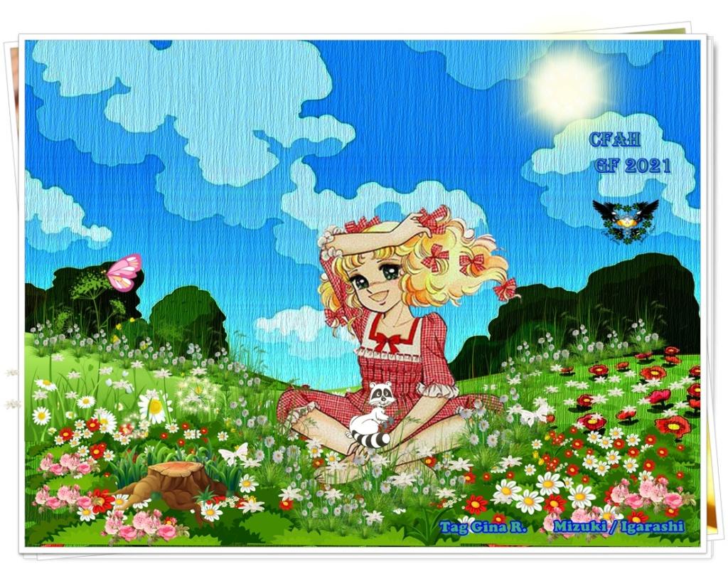 """[♥ Celtic Fairies Corazón Andrew ♥] ANIMALES FANTÁSTICOS -Aporte #1 -Montaje - """"Candy en el campo""""-Destellos para Candy  Candy_10"""