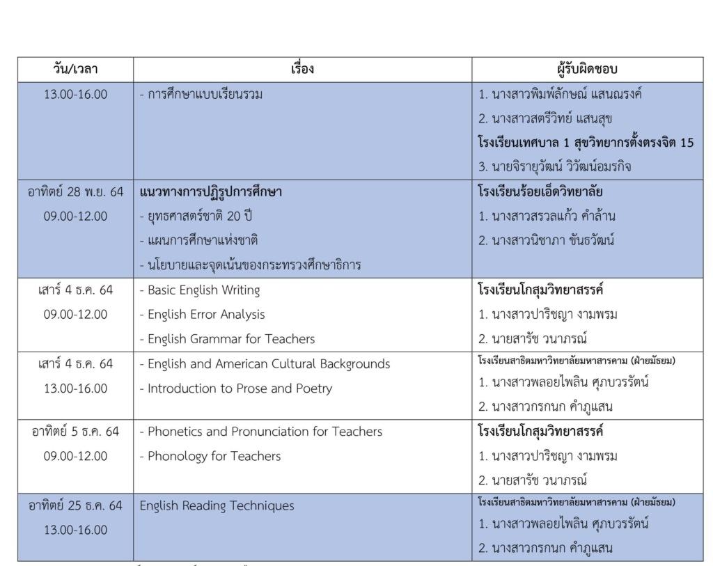 ตารางเตรียมความพร้อมสอบครูผู้ช่วย EN60 3_111