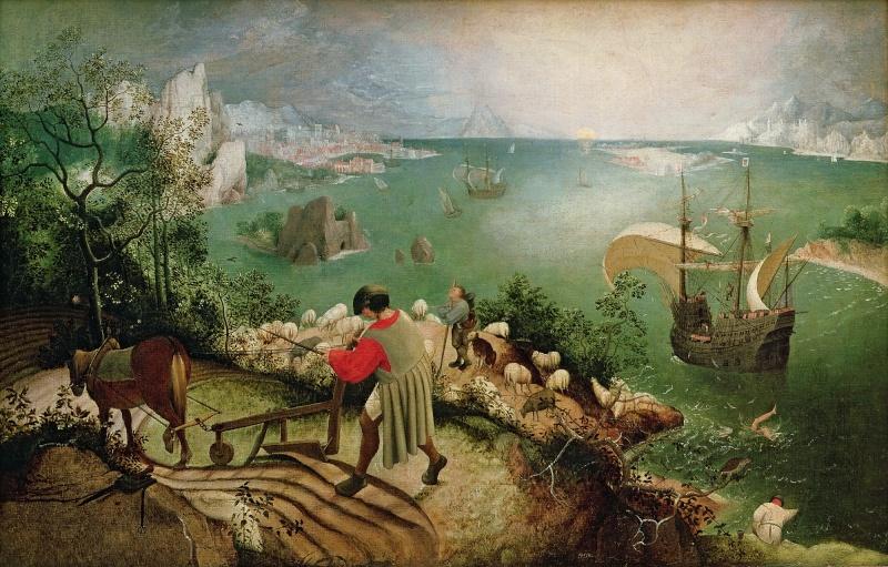 Breughel, Icare, danses paysannes et proverbes Pieter11