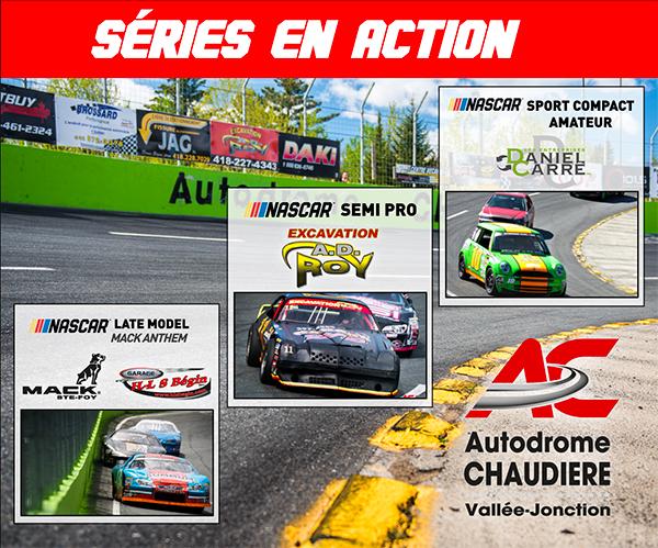Première étape Québécoise NASCAR PINTY'S : À l'autodrome Chaudière samedi 1c10