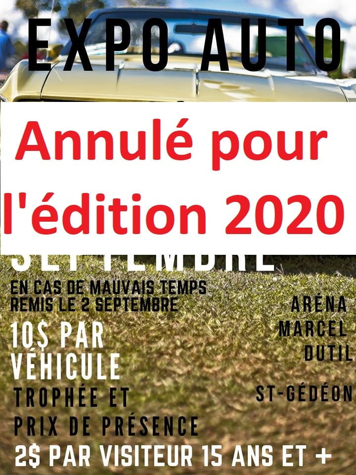 [ANNULÉ]Expo St-Gédéon 6 septembre 2020 1stged11