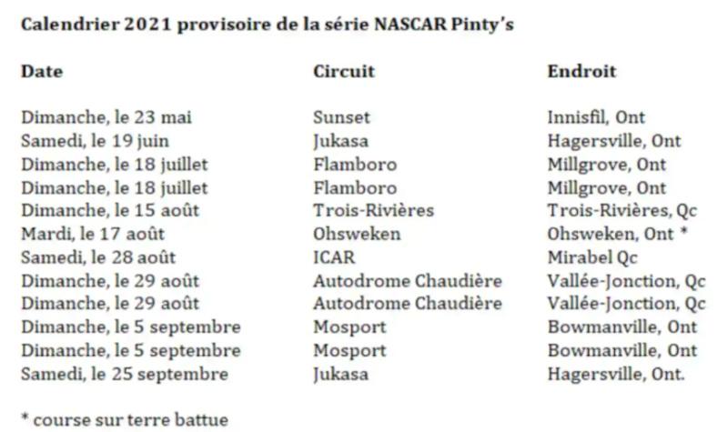 Calendrier Série Pinty's 2021 2021_p10