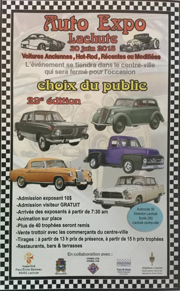 Auto Expo Lachute - 30 juin 18 Expo_l10