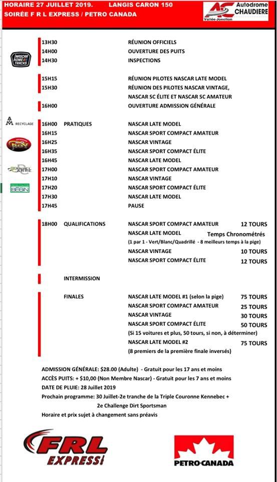 Samedi 27 juillet : Les NASCAR Vintage au Langis-Caron 150  Horair12