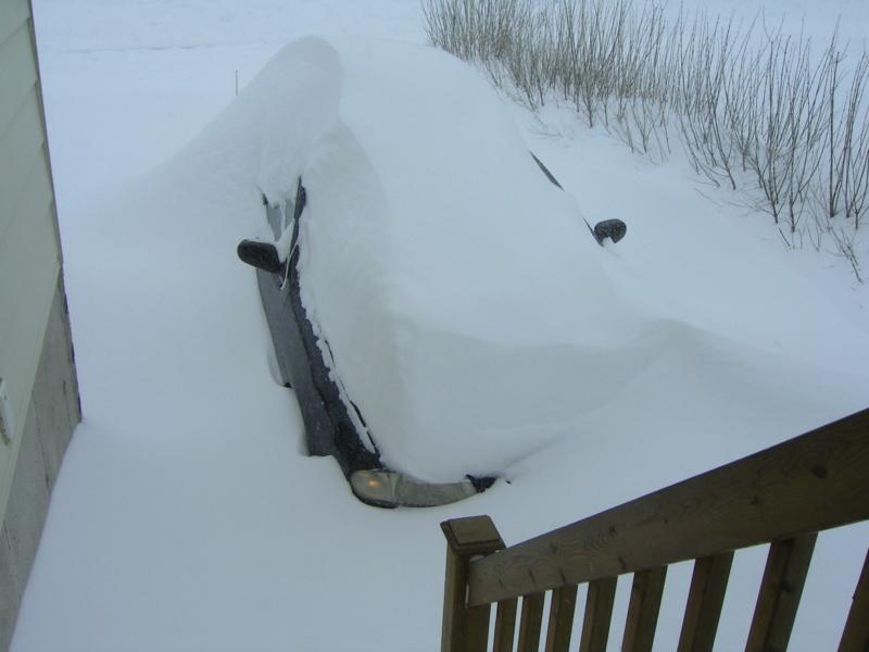 La voiture dans le garage l'hiver ou non? Mars1710