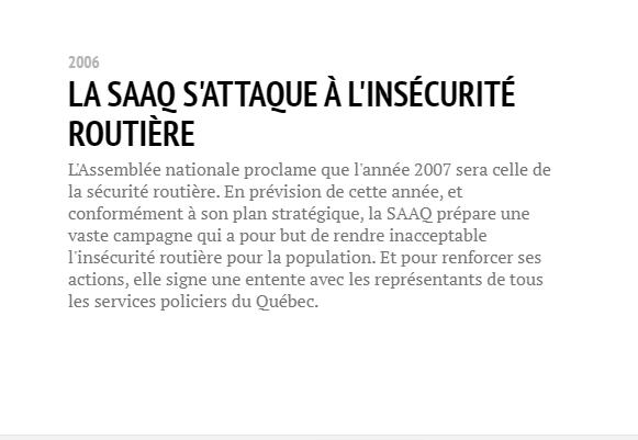Historique de la SAAQ Saaq2010