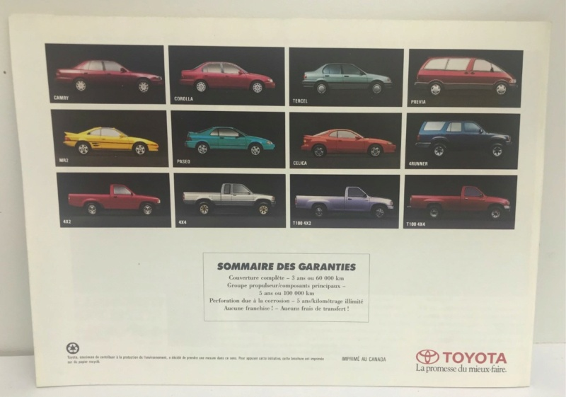 Brochures vintage Totoya Toyota20