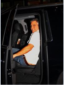 George Clooney At joe's Stone crab in Miami Feb 16  Cloone10
