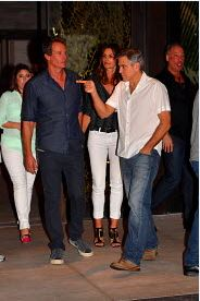 George Clooney At joe's Stone crab in Miami Feb 16  Cloone11