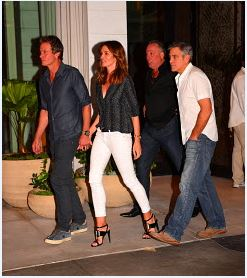 George Clooney At joe's Stone crab in Miami Feb 16  Cloone12