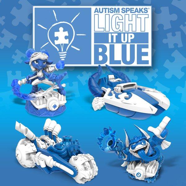Des figurines Skylanders SuperChargers Power Blue en édition limitée pour sensibiliser à l'autisme Cczo9v10