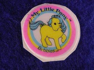 Stickers vendu avec les petits poneys  Bubble10