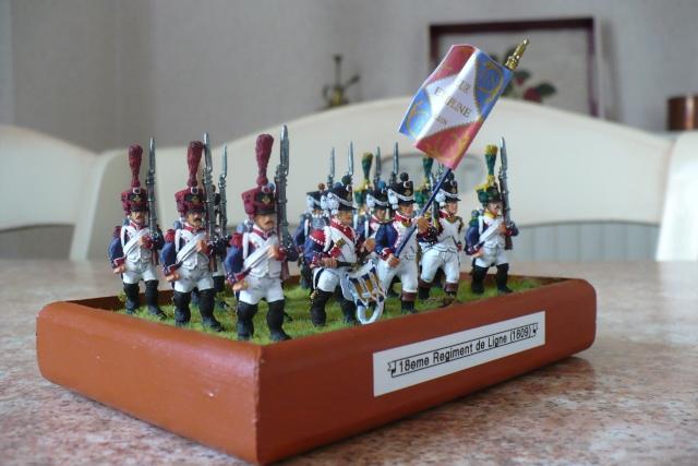 peinture - 18 eme Régiment d'Infanterie de Ligne (1809-1812)[achevé] P1020510
