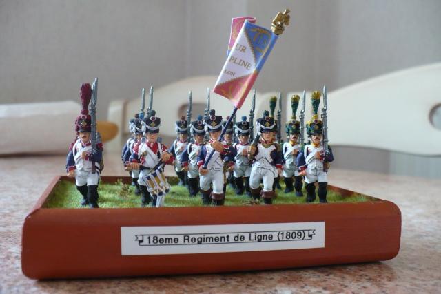 peinture - 18 eme Régiment d'Infanterie de Ligne (1809-1812)[achevé] P1020511