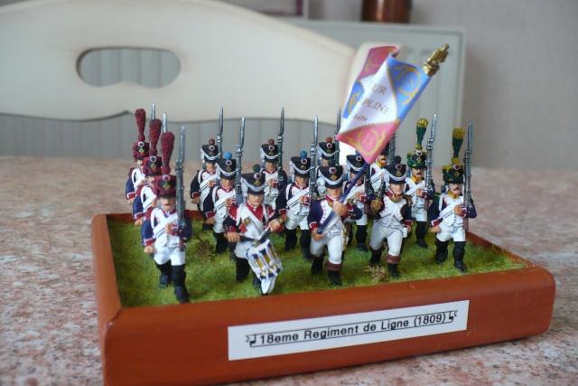 peinture - 18 eme Régiment d'Infanterie de Ligne (1809-1812)[achevé] P1020514