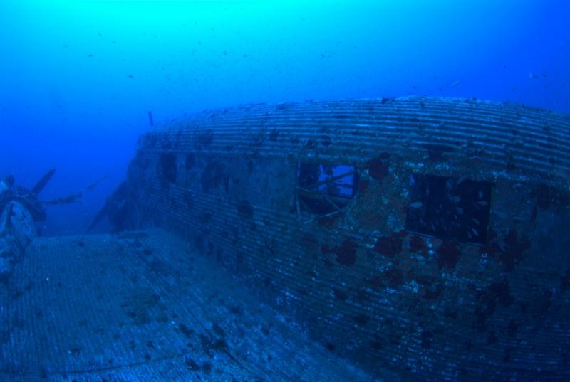 Un JUNKERS52 repose sur un banc de sable pendant 65 ans, à 67 mètres de profondeur 1ju10