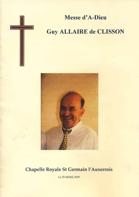 Décés, de Guy ALLAIRE, ancien du 9° RCP Allair13