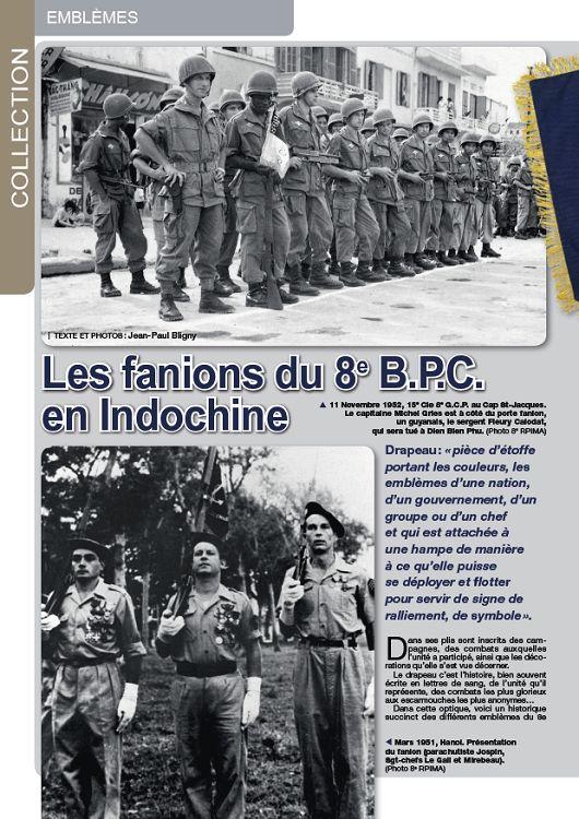 Fanions unités autochtones parachutistes Indochine Fanion10