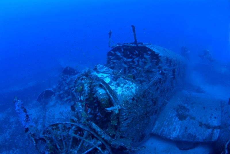 Un JUNKERS52 repose sur un banc de sable pendant 65 ans, à 67 mètres de profondeur Ju210