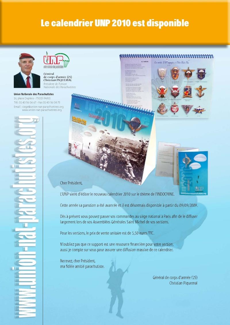 Le calendrier UNP 2010 est disponible Mailin10