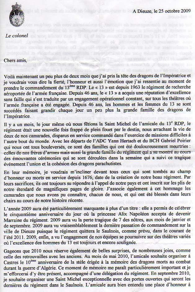 Hier, au repas de l'Amicale, le Psdt nous a lu cette lettre émouvante, de l'actuel Chef de Corps .. Mot_ch10