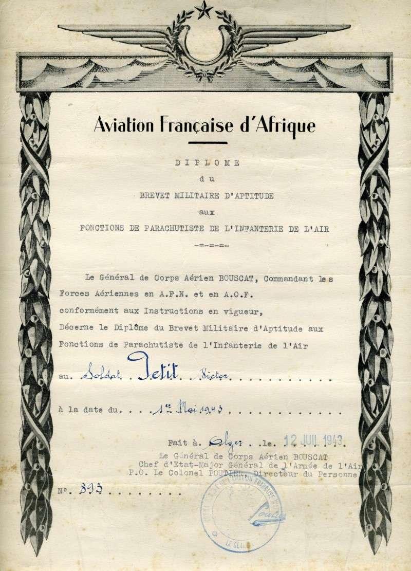 PETIT Victor - brevet n°893 à FEZ (Maroc) Représenté par son fils Denis Petit_10