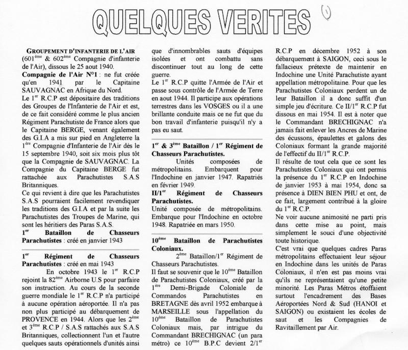 """La polémique """"Qui ose gagne"""" Mise au point du COL de BADTS ancien du 1er RCP Polami10"""