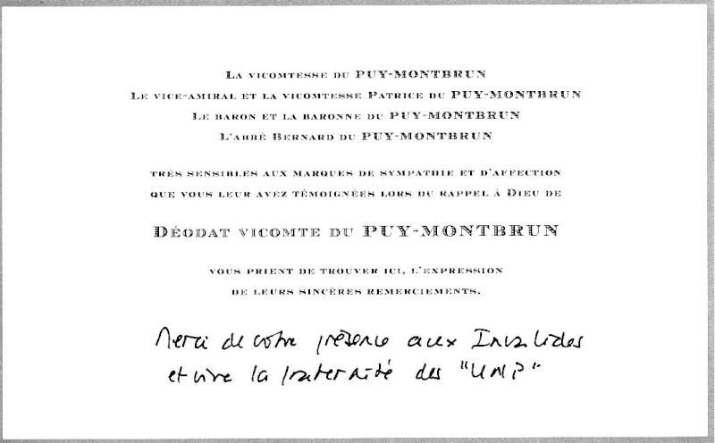 DEODAT du PUY-MONTBRUN colonel - Cérémonie INVALIDES 27 févier 2009 Puy-mo10
