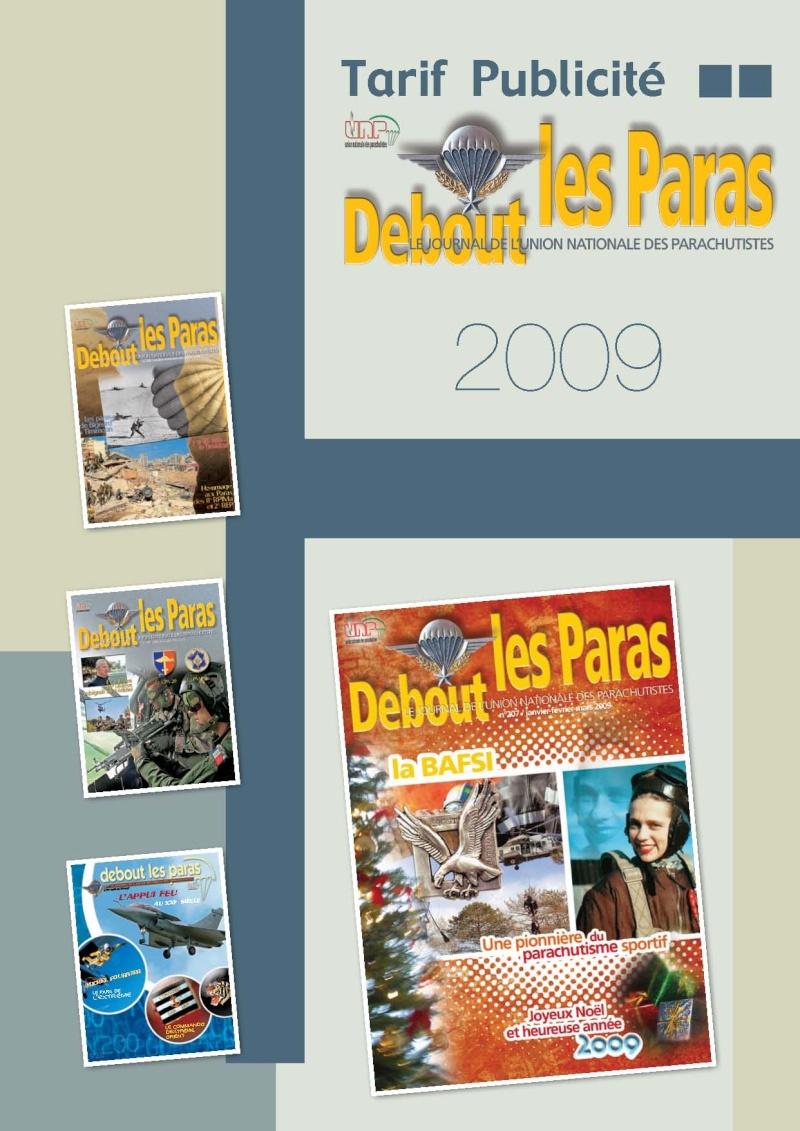 Publicité dans DLP et le livre de Thierry d'Athis sur la PM Paras Tarif_10