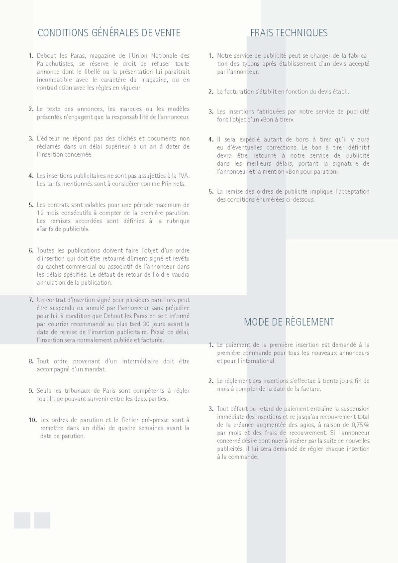 Publicité dans DLP et le livre de Thierry d'Athis sur la PM Paras Tarif_13