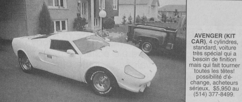 Les Québecois Grand Amateurs de Kit Car - Page 2 Avenge10