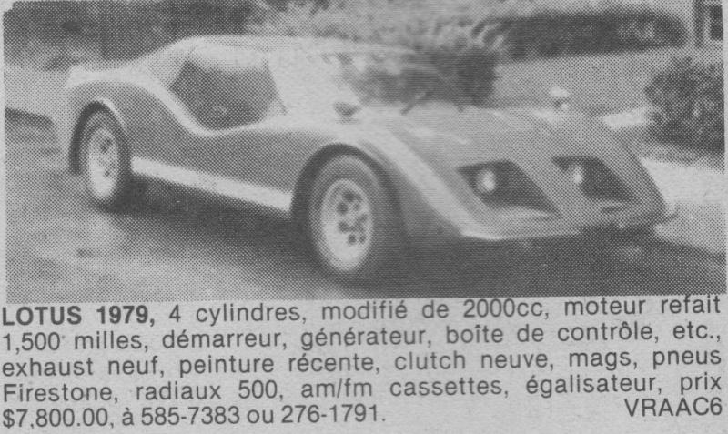 Les Québecois Grand Amateurs de Kit Car - Page 2 Lotus710