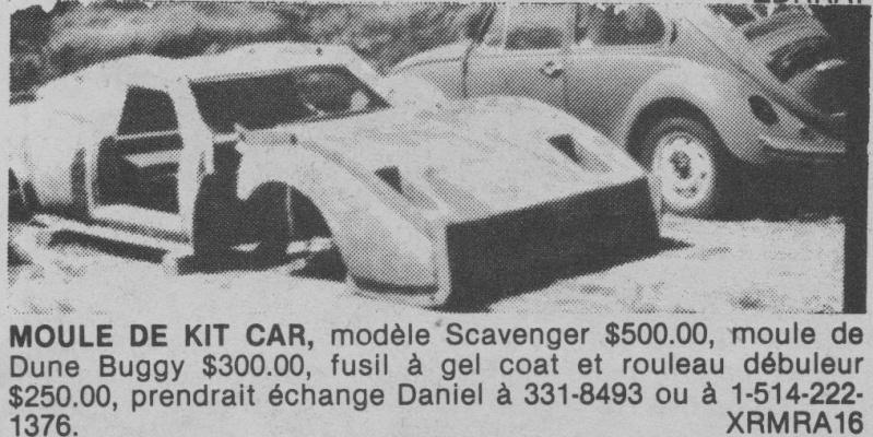 Les Québecois Grand Amateurs de Kit Car - Page 2 Scaven11