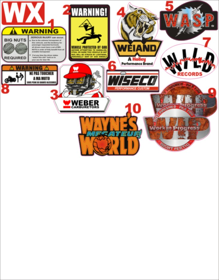 NIKO'S STICKERS (catalogue page 1) 0wx-110