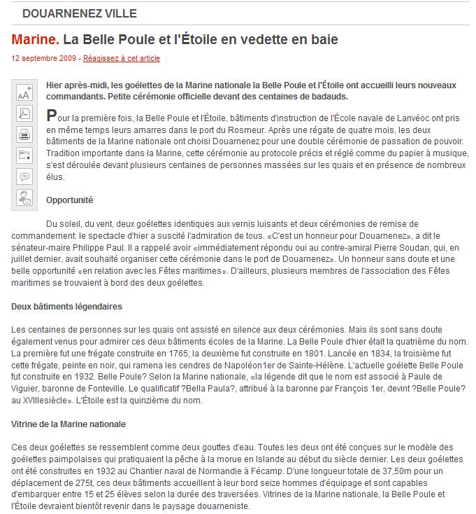 L'ÉTOILE ET LA BELLE-POULE (BE) - Page 5 Articl10