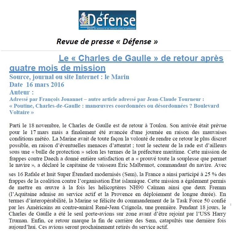 [ Porte-Avions Nucléaire ] Charles De Gaulle Tome 3 Def10
