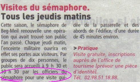 SÉMAPHORE - BEG MEIL (FINISTÈRE) - Page 3 Lastsc29