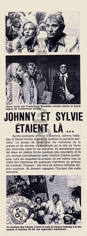 JOHNNY ET SYLVIE AU CANADA EN 1975 Echo_v10
