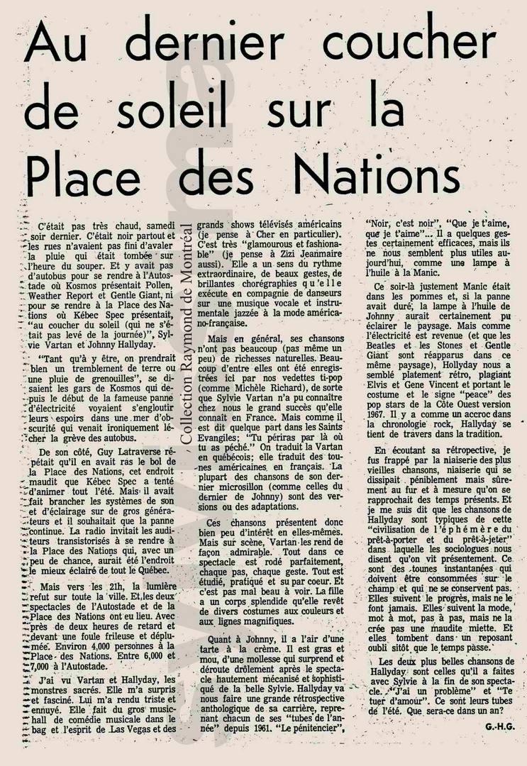 JOHNNY ET SYLVIE AU CANADA EN 1975 La_pre10