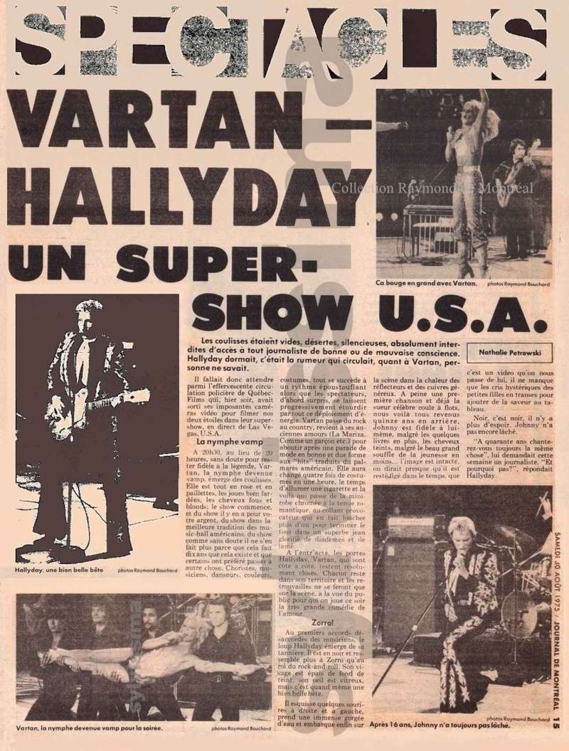 JOHNNY ET SYLVIE AU CANADA EN 1975 Specta10