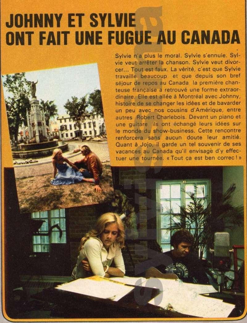 JOHNNY ET SYLVIE AU CANADA EN 1975 Vartan10
