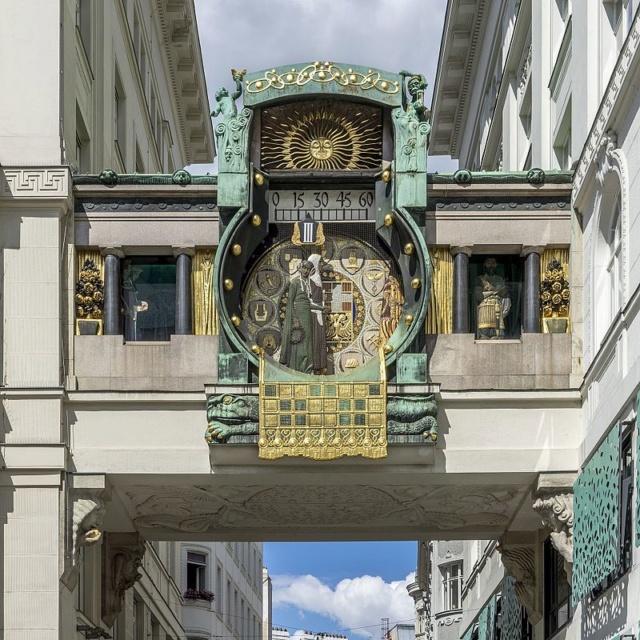 Vienne : l'horloge Anker (Ankerruhr) Ankeru10
