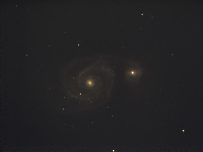 Essai en visuel assisté avec une Atik Infinity.... M5110