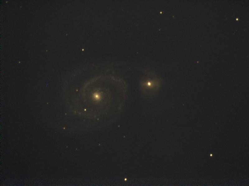 Essai en visuel assisté avec une Atik Infinity.... M51_210