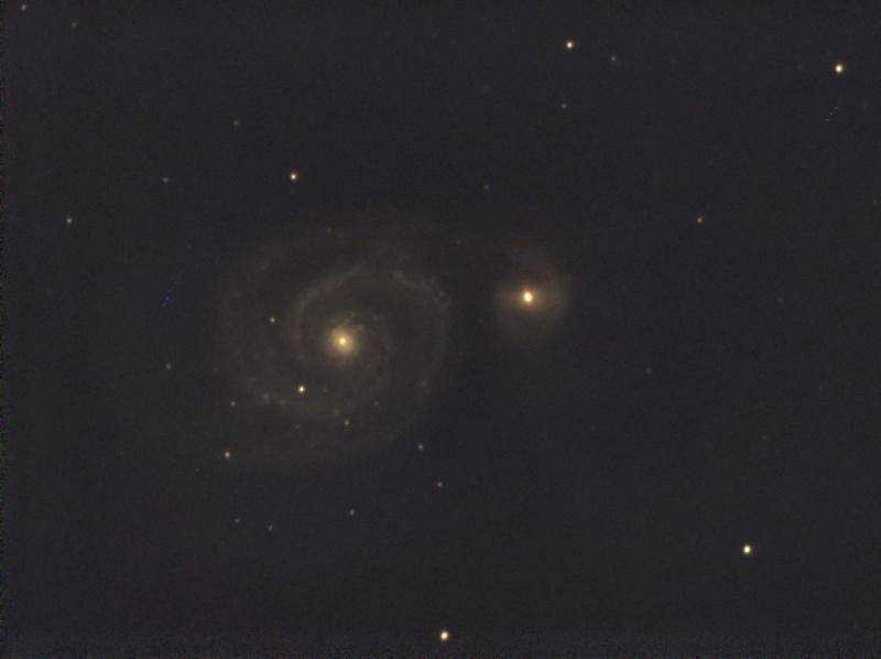 Essai en visuel assisté avec une Atik Infinity.... M51_2p11