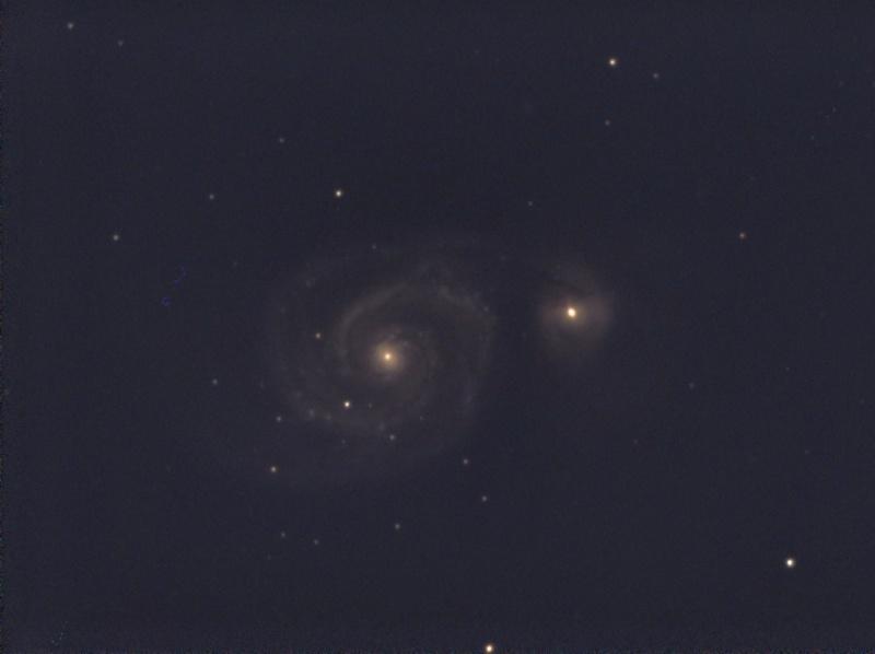 Essai en visuel assisté avec une Atik Infinity.... M51pix10