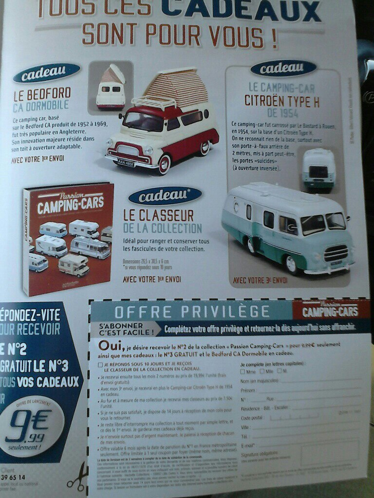 """2017 - Hachette Collections > """"Passion CAMPING-CARS"""" Campin14"""
