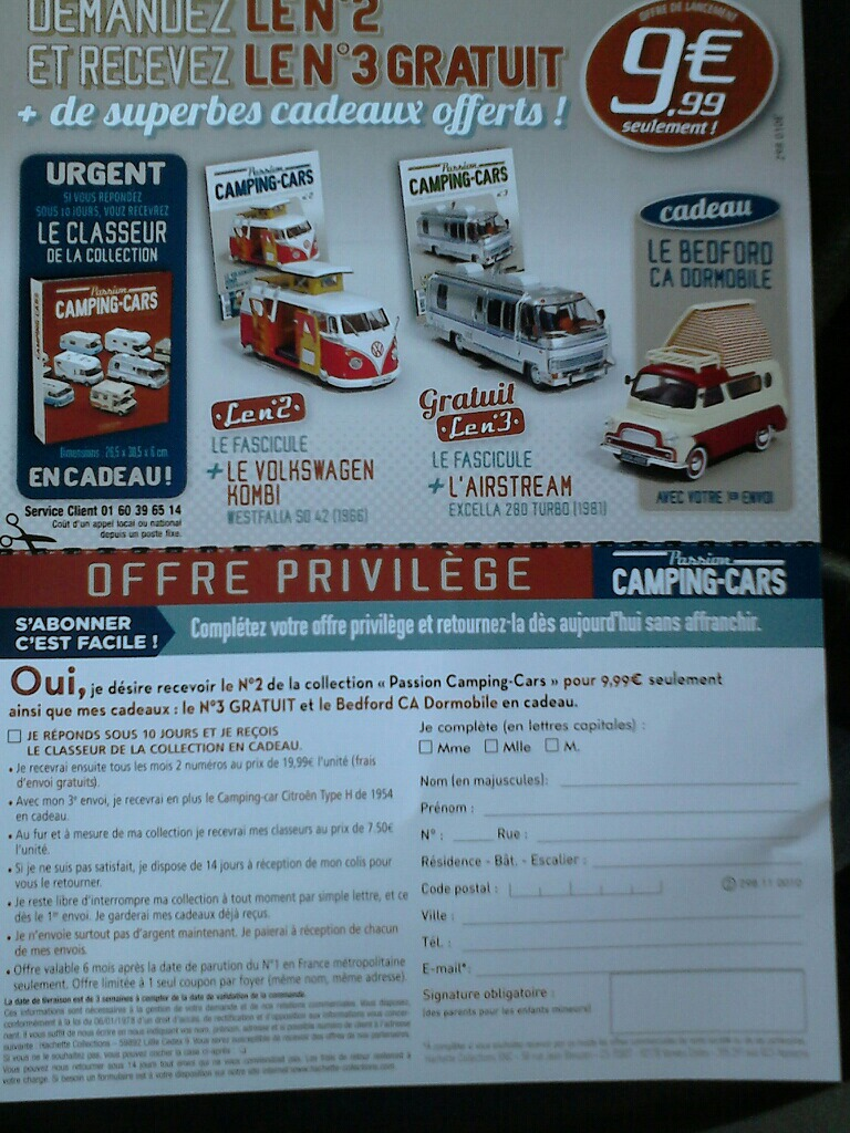 """nouvelle collection Hachette """"Passion Camping Cars"""" Campin16"""