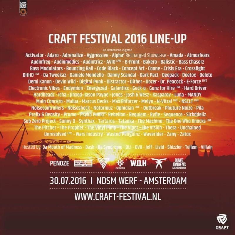 [ C.R.A.F.T - Samedi 30 Juillet 2016 - NDSM - Amsterdam (NL) ] Lineup11